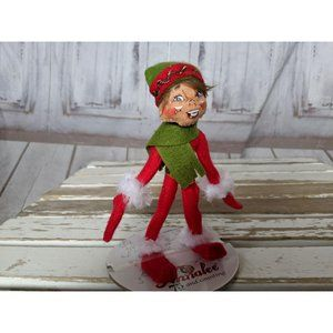 Annalee 2012 Red Elf Green Scarf and Hat 75th Anni